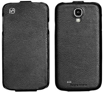 Hoco Samsung Galaxy S4 Genuine Leather Flip Case Black
