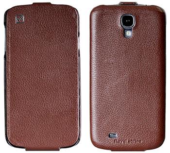 Hoco Samsung Galaxy S4 Genuine Leather Flip Case Brown