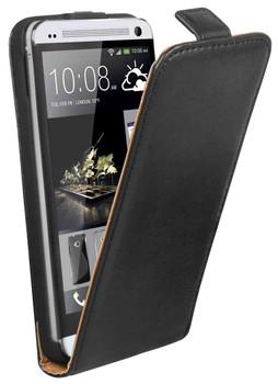HTC One M7 Flip Case Black