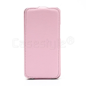 HTC One Leather Flip Case Pink