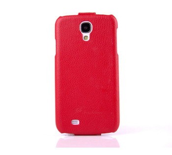 Samsung Galaxy S4 Genuine Leather Flip Case Red