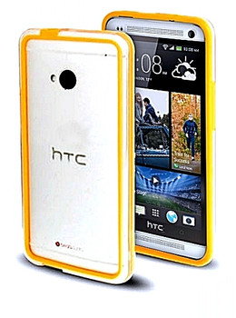 HTC One M7 Bumper Case Orange