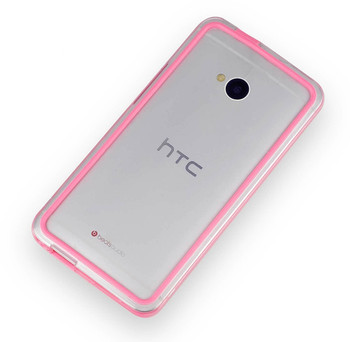 HTC One M7 Bumper Case Pink