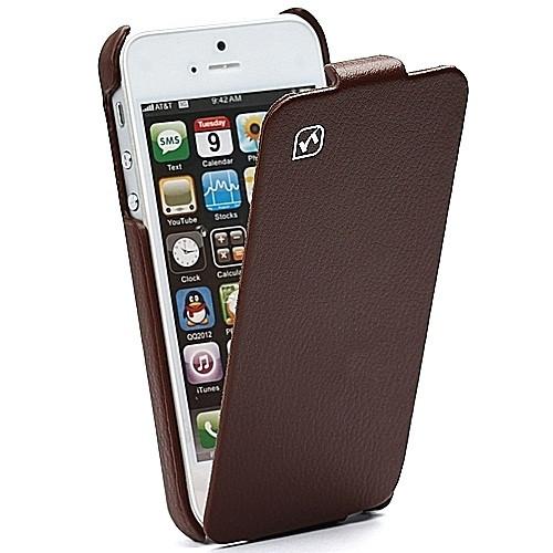 b99f7832d49f Hoco Duke iPhone 5 Brown Hoco Duke iPhone 5 5S Real Leather Flip Case ...