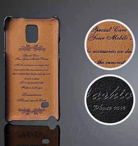 Samsung Galaxy Note 4 Leather Back Cover Black