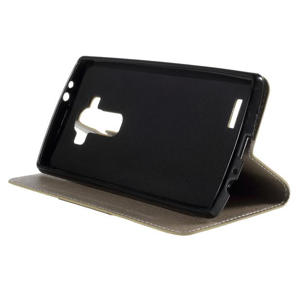 LG G4 Wallet Flip Case Gold