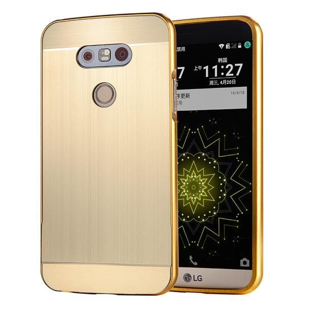 LG G5 Metal Aluminum Bumper Case+Hard Back Gold