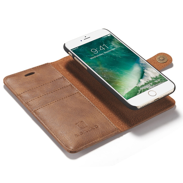 iPhone 7 Leather Wallet With Removable Case Tan