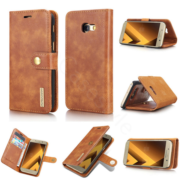 Samsung Galaxy A5 2017 Leather Case with Removable Cover Brown