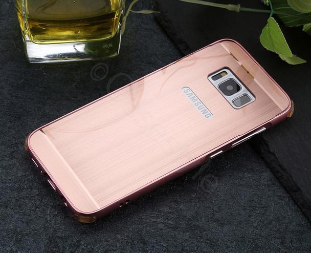 Samsung Galaxy S8+[Plus] Aluminum Bumper Case Rose Gold