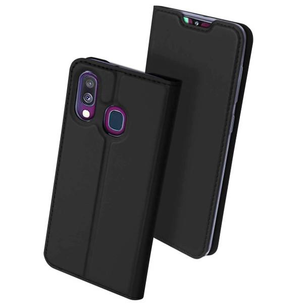 Samsung Galaxy A40 Case Shockproof 360 Flip Cover Black