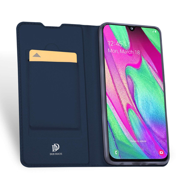 Samsung Galaxy A40 Case Shockproof 360 Flip Cover Blue