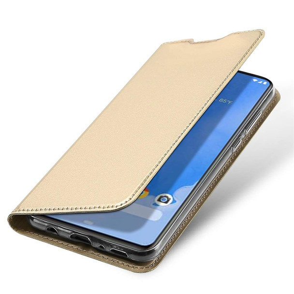 Samsung Galaxy A70 Magnetic Case Stand Cover Card Holder Gold