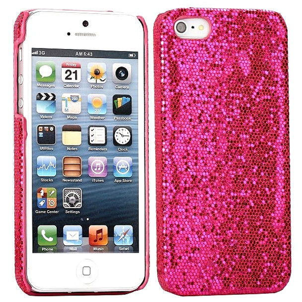 new style 94c8a 2b245 iPhone 5 5S Bling Glitter Case Pink