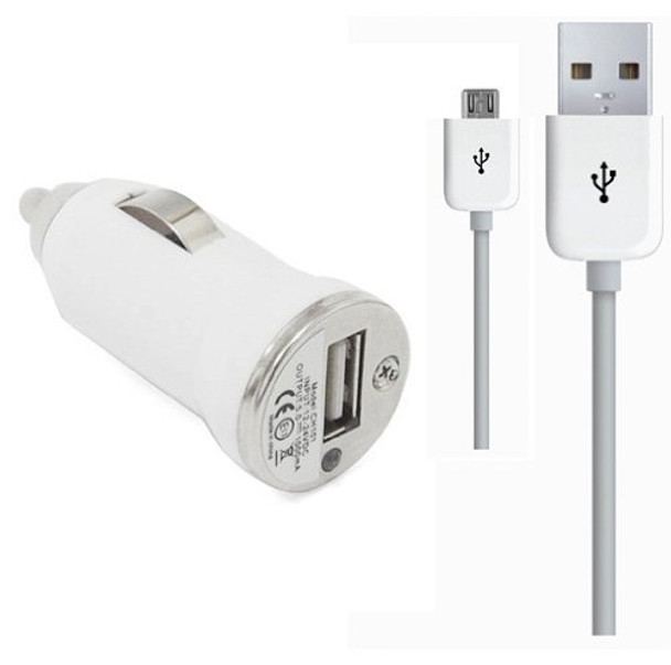 Samsung Galaxy S4+S3+S2 USB Car Charger White