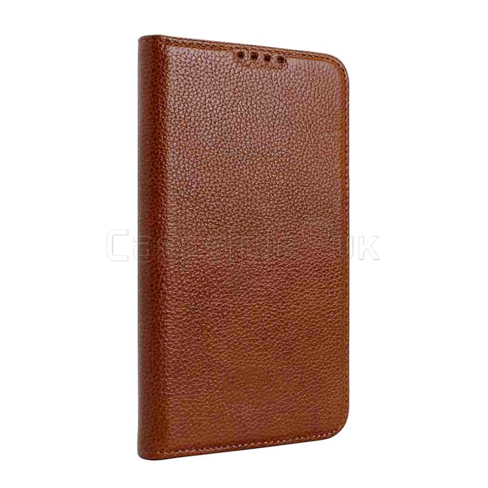 best authentic 7ed89 08f68 Samsung Galaxy S5|S5 Neo Genuine Leather Wallet Case Brown