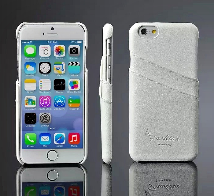 buy online b0f5d 9aca9 iPhone 6 6S Genuine Leather Back Case White