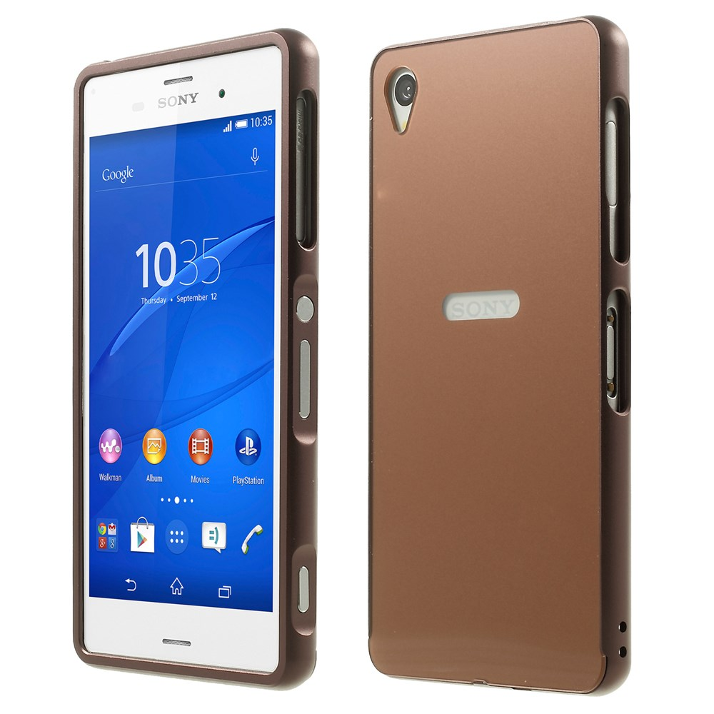 the latest 87d15 b79b1 Sony Xperia Z3 Metal Bumper+Hard Back Cover Copper