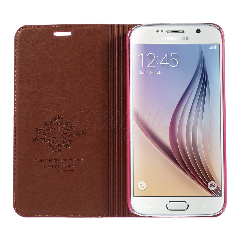huge selection of ccabe 86b31 Samsung Galaxy S6 Genuine Leather Case Pink