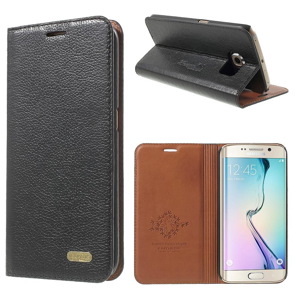 reputable site 3c63c 94b60 Samsung Galaxy S6 EDGE PLUS Genuine Leather Case Black