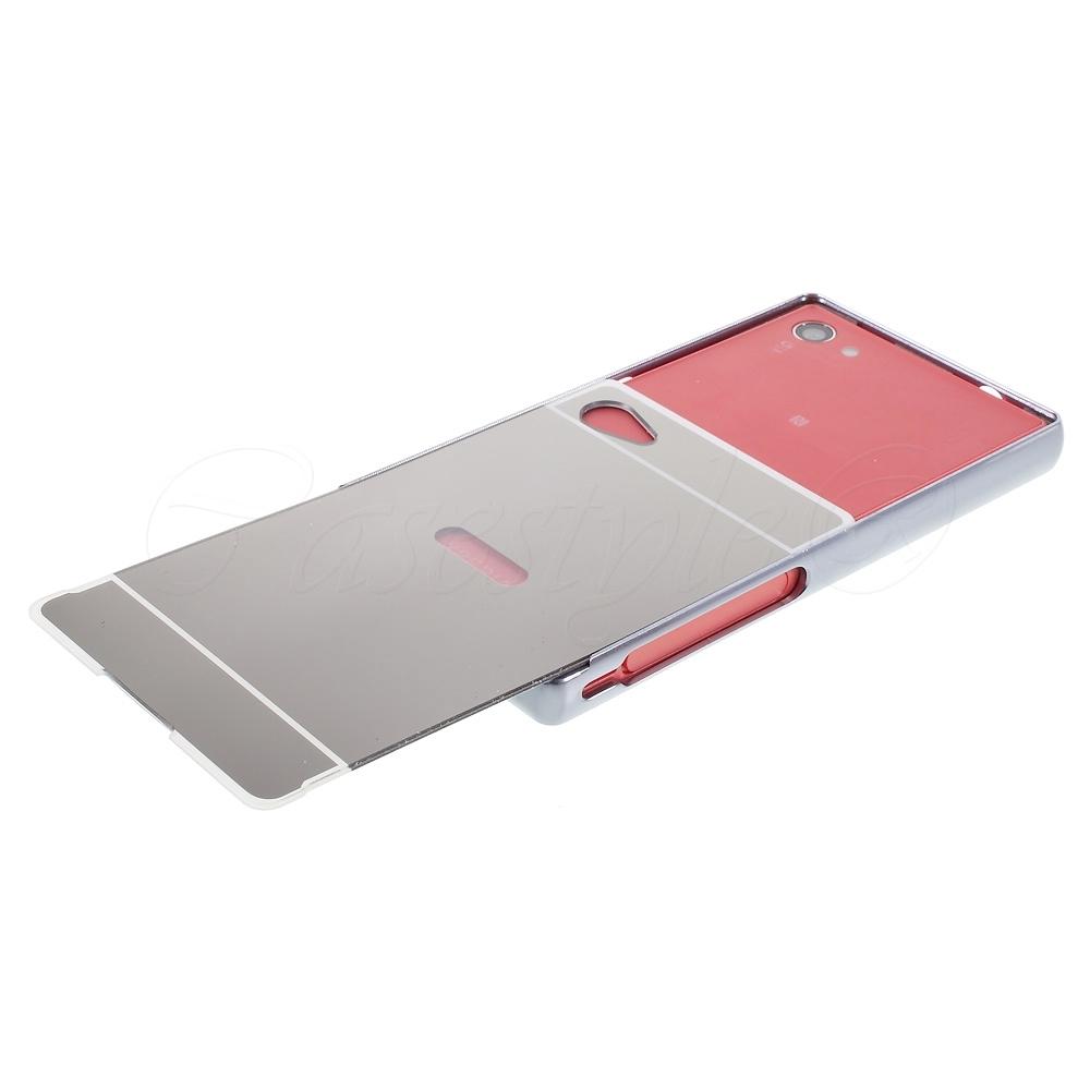 Sony Xperia Z5 Mini Case Mirror Samsung Note 4 Backcase With Metal Aluminium Bumper Black Compact Back