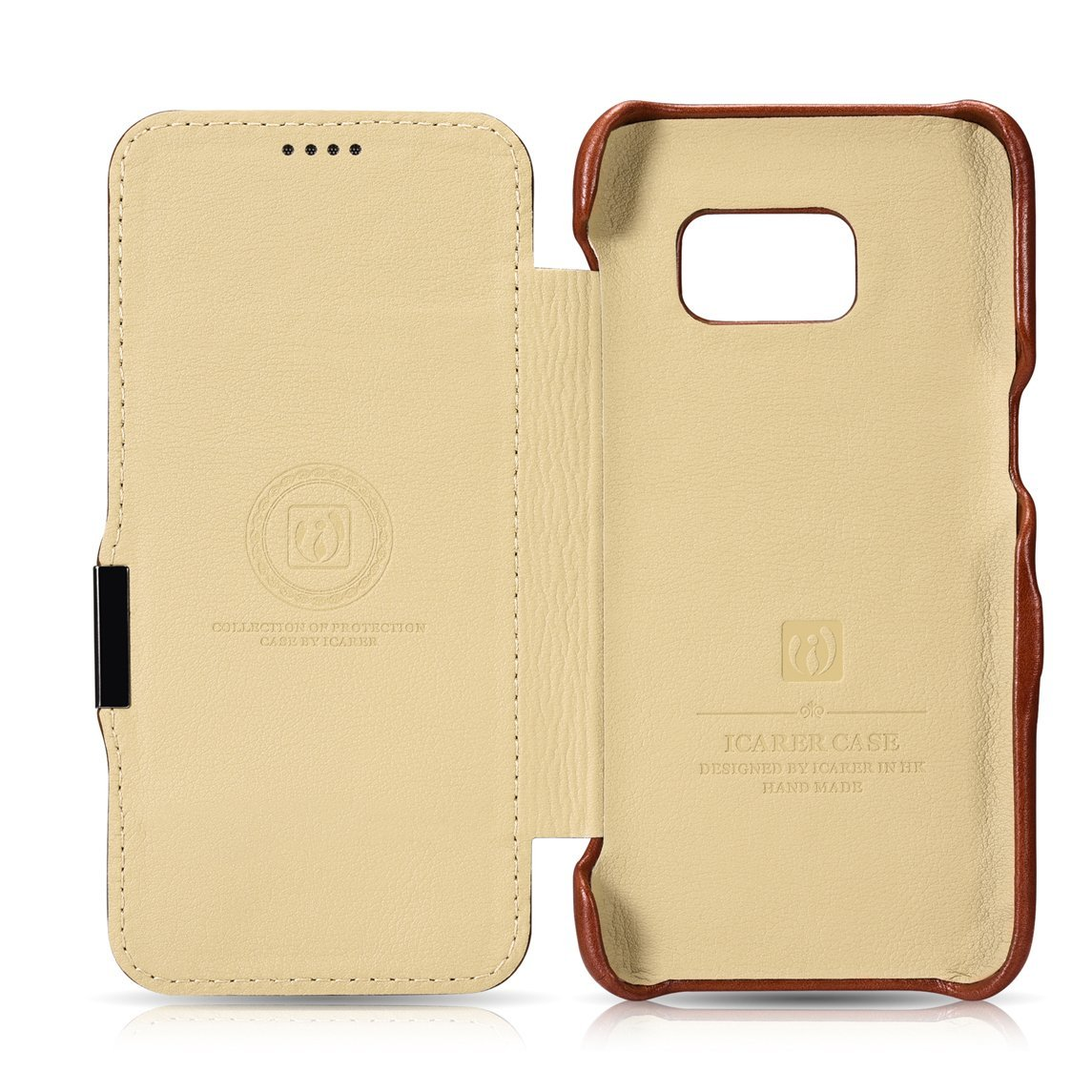 8806e843cfe ... iCarer Samsung Galaxy S7 Vintage Leather Case Brown ...