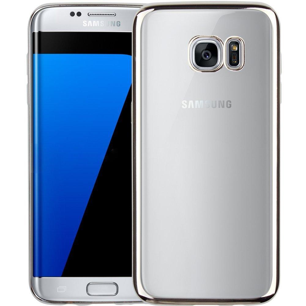 huge discount 32054 a3c40 Samsung S7 EDGE Bumper Case Silver+Transparent Back