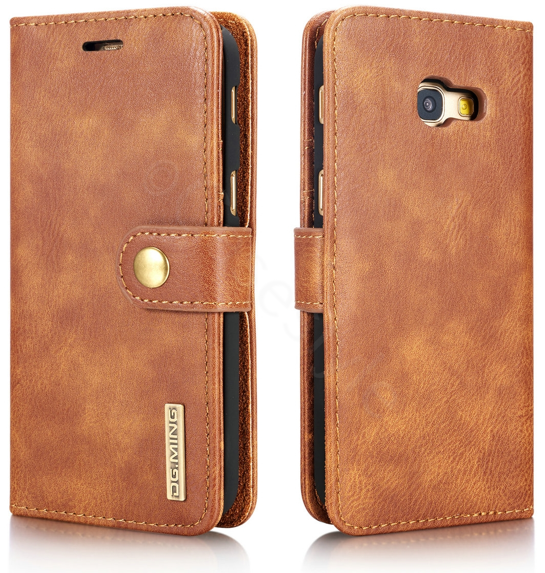 various colors a4f2a 08afe Samsung Galaxy A5 2017 Leather Case with Removable Cover Brown