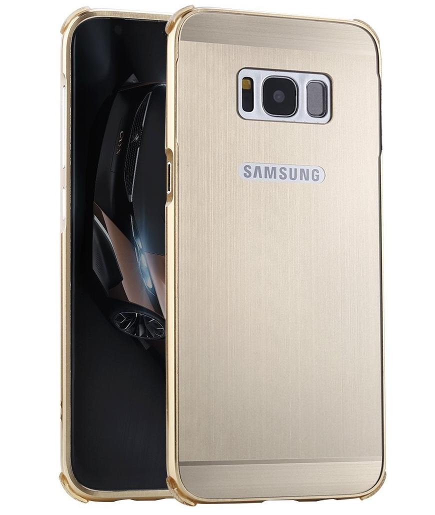 detailed look 297eb 4baef Samsung Galaxy S8 Aluminum Metal Bumper Case Gold