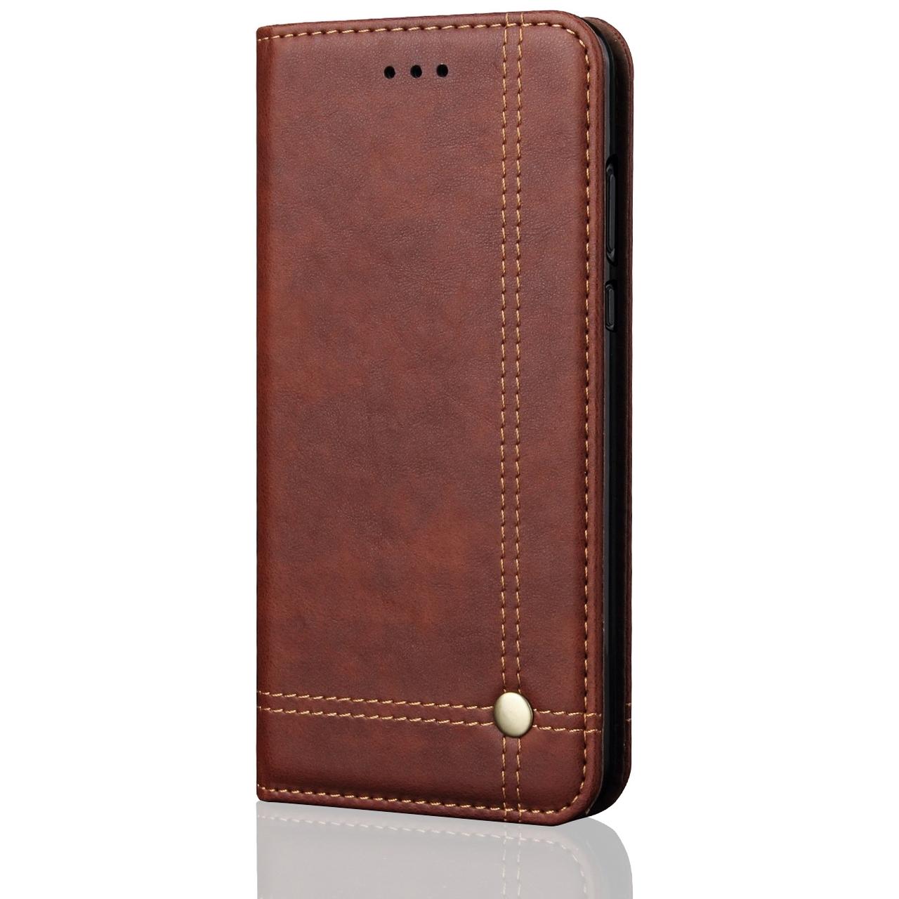 meet d8c78 ece47 OnePlus 6T Retro Leather Case Card Holder Brown