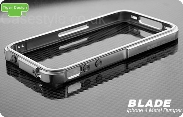 sale retailer 71353 20859 iPhone 4S 4 Blade Case Metal Bumper Silver