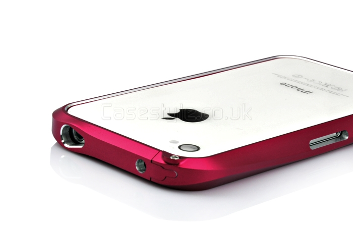 sports shoes ef0b8 2809b Deff Cleave iPhone 4S 4 Metal Bumper Case Red