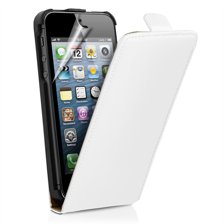 9caff05ead49 iPhone 5S White Leather Slim Case