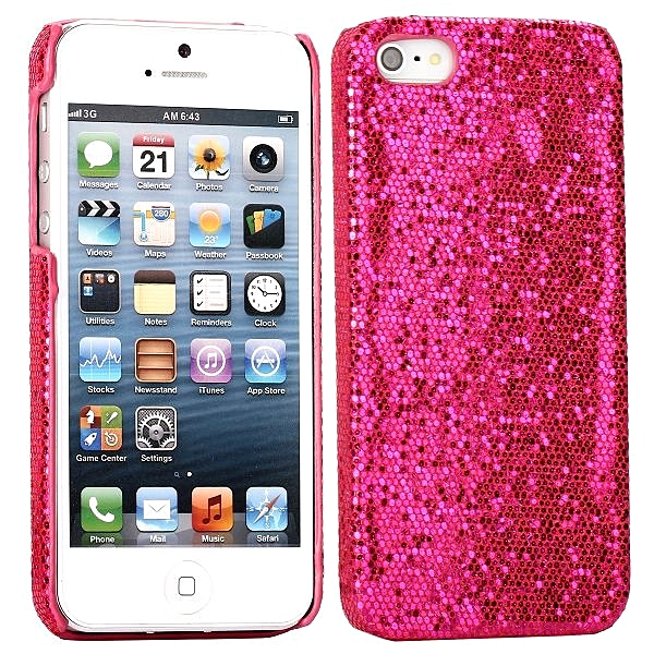 new style 1e997 2a9b7 iPhone 5 5S Bling Glitter Case Pink