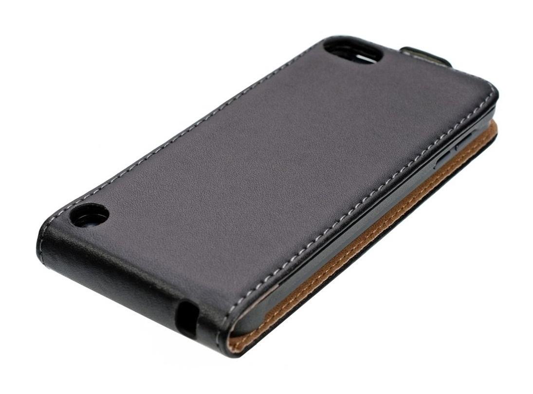 buy online a5e8a 779a6 iPod Touch 6/5 Leather Flip Case Black