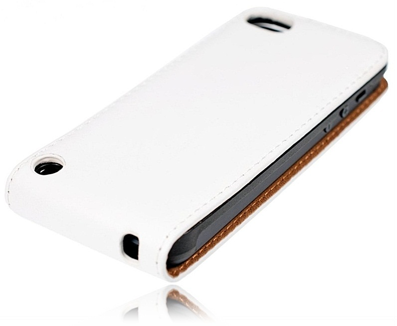 new styles db1a1 1bfe2 iPod Touch 6/5 Leather Flip Case White
