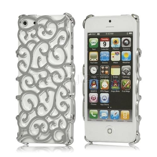 iphone 5 designer case silver iPhone 5 5S Nouveau Art Womens ... 10251a191a