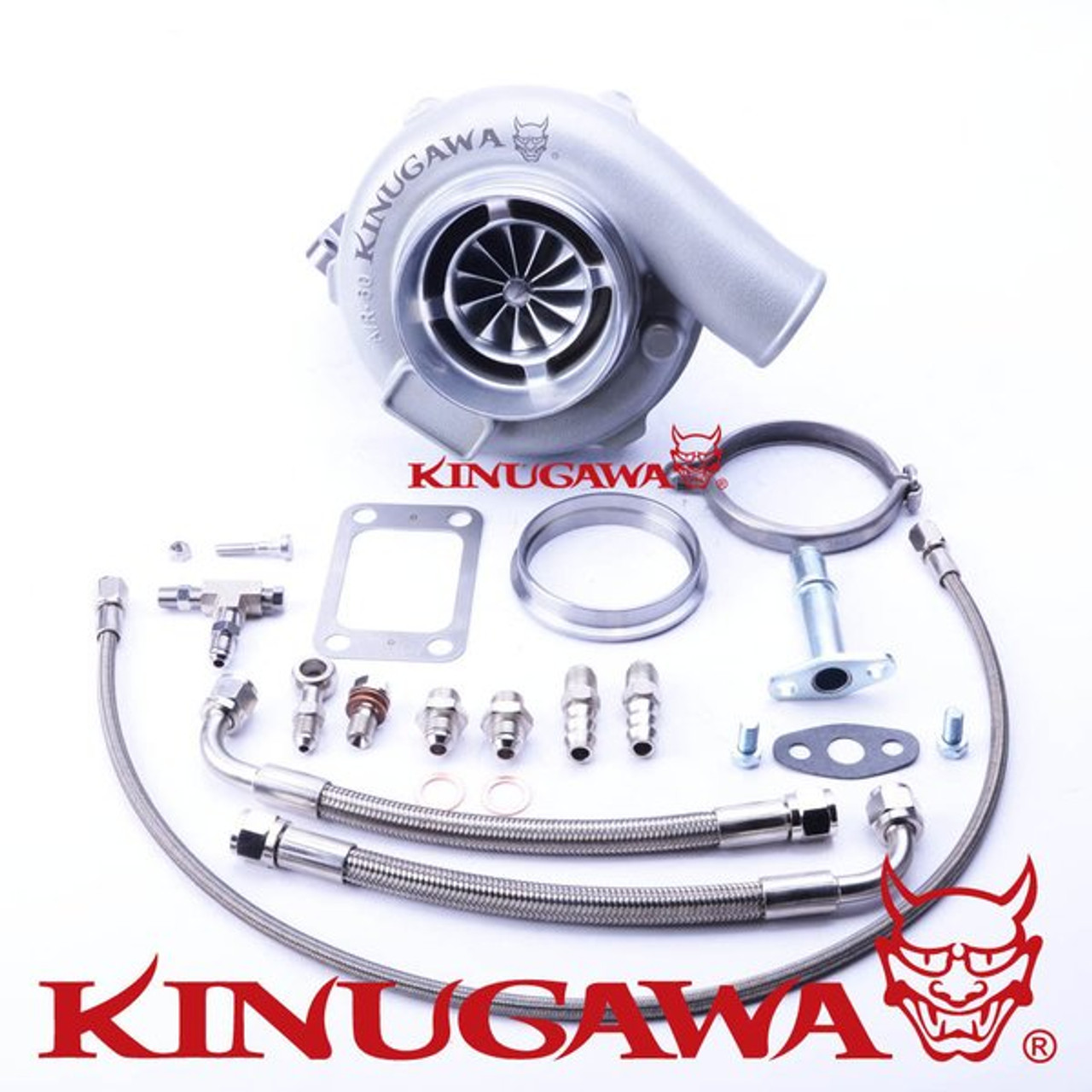 "Kinugawa Ball Bearing Turbocharger 4"" Anti Surge GTX3071R 60mm w/ .64 T3 V-Band"