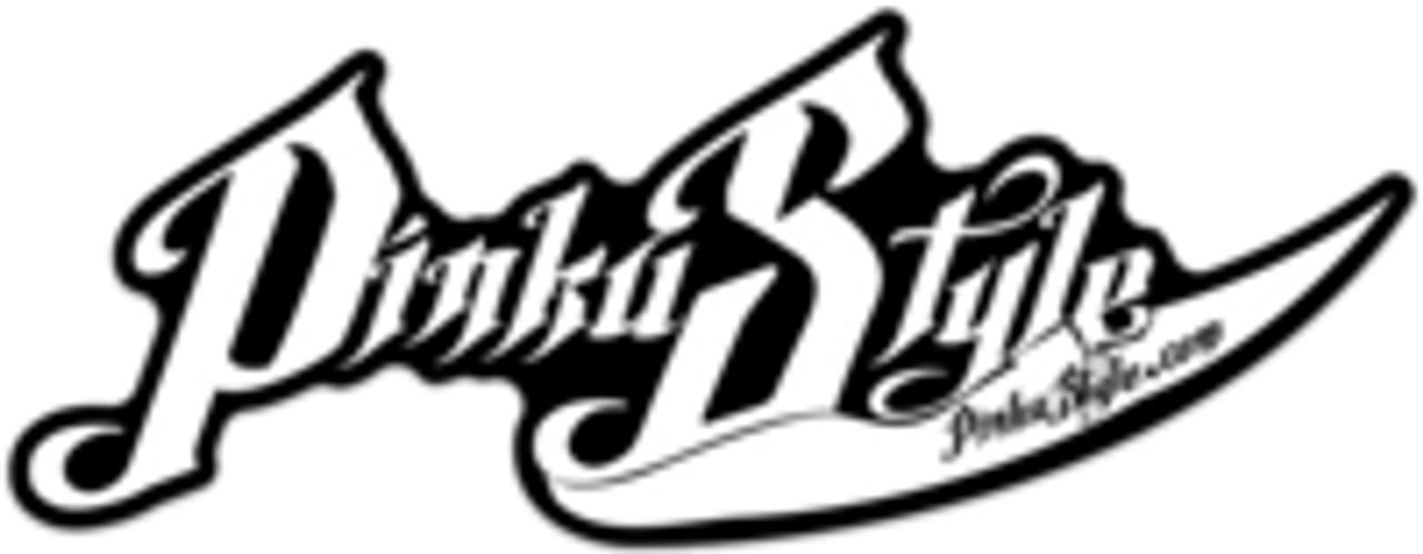 Matte Black/White Die Cut Pinku Style Sticker