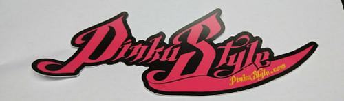 "Matte Diecut Pinku Style Sticker 7.5"" x  2.9"""