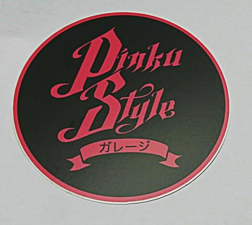 """Matte Circle Pinku Style Sticker  3"""" x 3"""""""