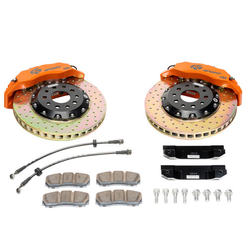 89-94 NISSAN SKYLINE – REAR 4 PISTON BIG BRAKE KIT W/ 14 IN. SLOTTED ROTORS – PROCOMP