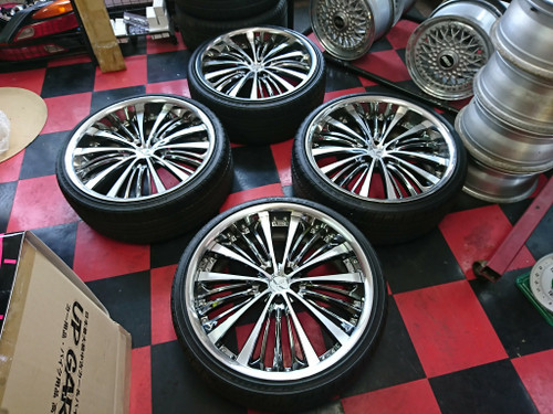 Rays Black Fleet V350 22in 5x114.3 4 Wheels