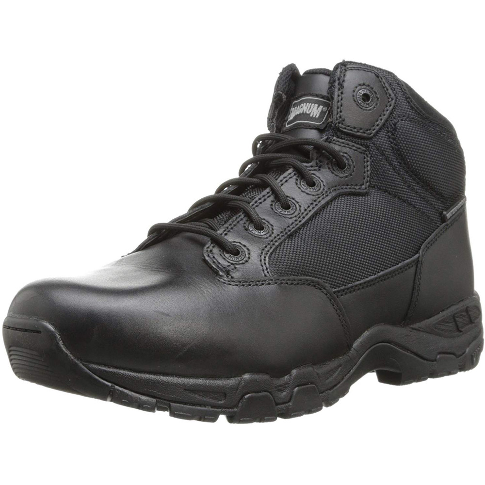 "Magnum Mens 5"" VIPER PRO 5 Side Zip SZ WP Black Police Army Combat Boots 5479"