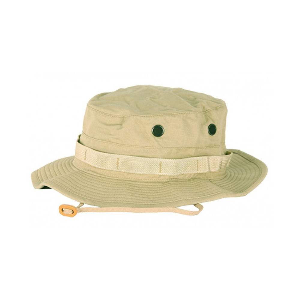 6805c56ff43 ... Propper Cotton Military Tactical Boonie Hat w Adjustable Chin Strap    Vent Holes ...