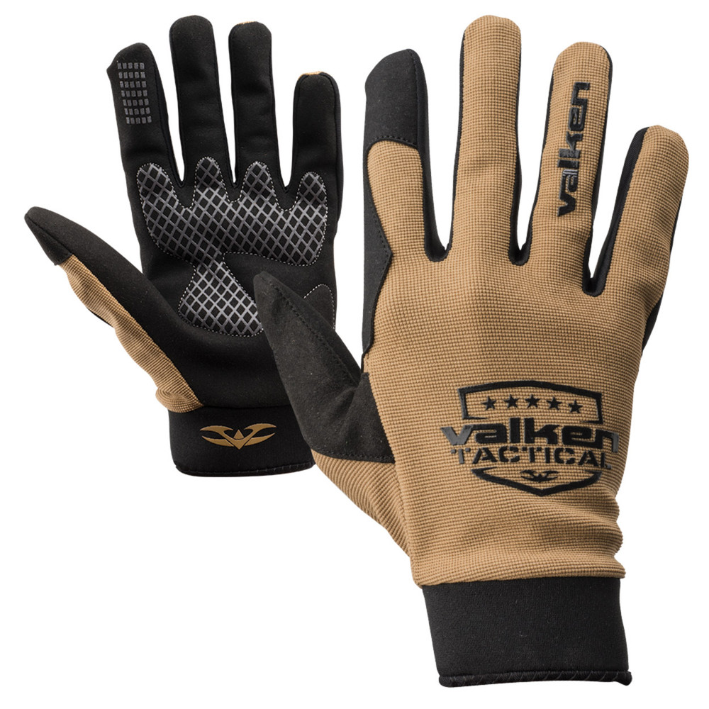 Valken Tactical Sierra II Gloves with Silicone Grip and Touchscreen Capability