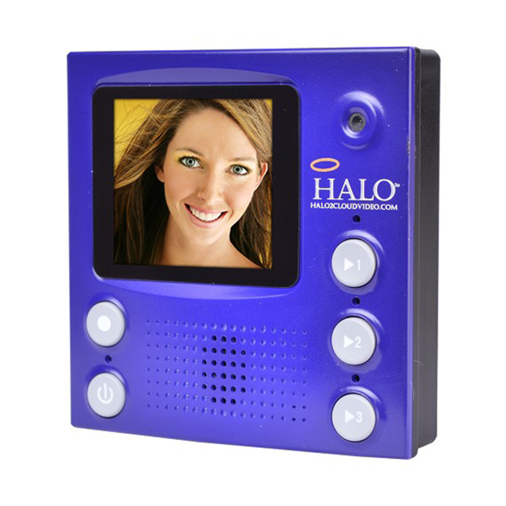 Halo LCD Personal Video Camera Messenger w/ Built-in Mic & Magnet Portable(Blue)