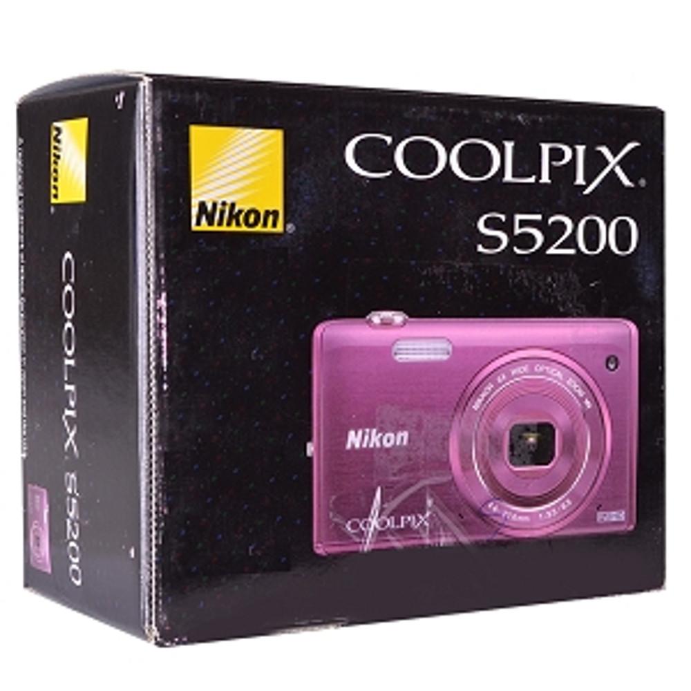"""Refurbished Nikon COOLPIX S5200 16.0MP 6x Optical/4x HD Digital Camera w/mini-HDMI Wi-Fi 3"""""""