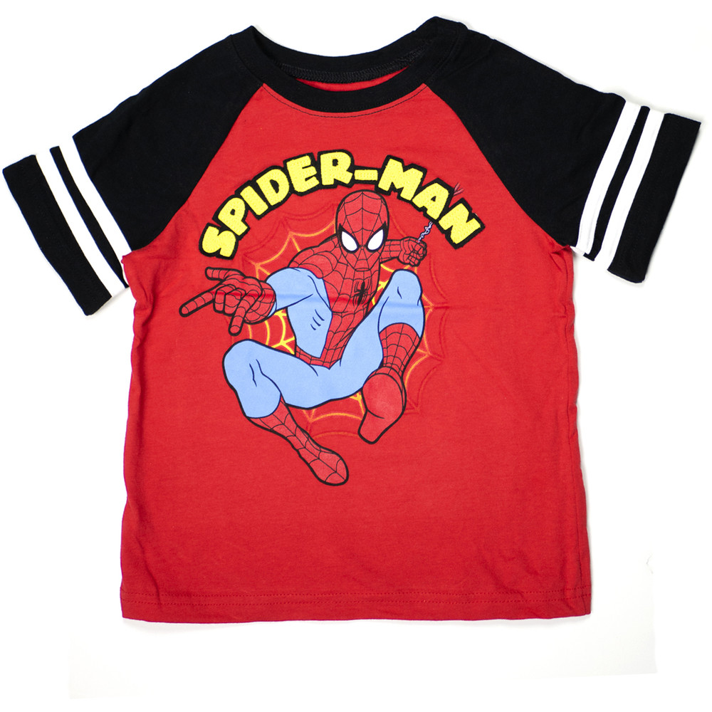 Marvel Toddlers 3 Piece Tank Top, T-Shirt, and Shorts Set, Spider-Man