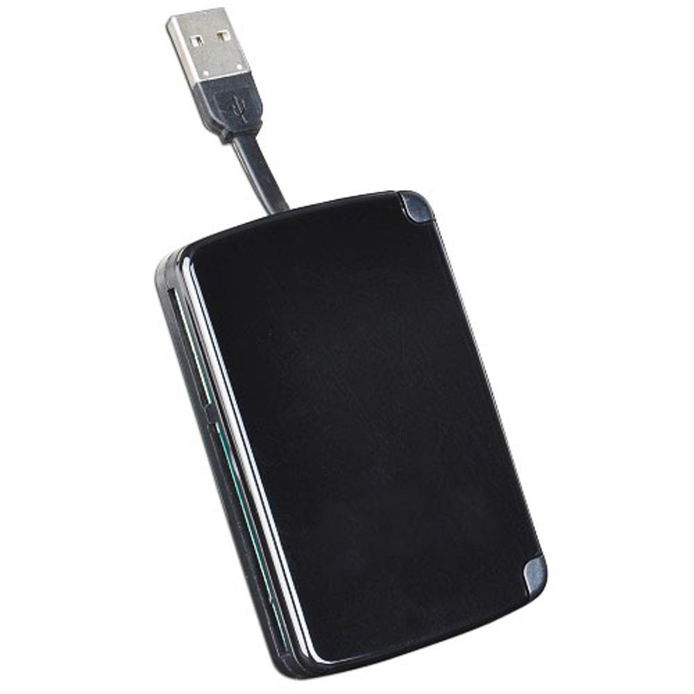 All-in-One Portable USB 2.0 Card Reader w/Built-In Storage for 9 Cards  ADA-623A